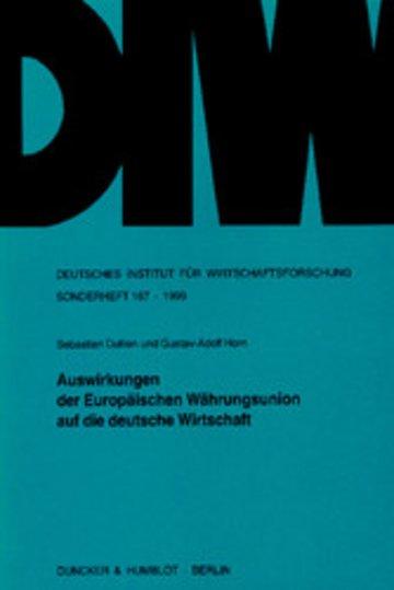 eBook Auswirkungen der Europäischen Währungsunion auf die deutsche Wirtschaft. Cover