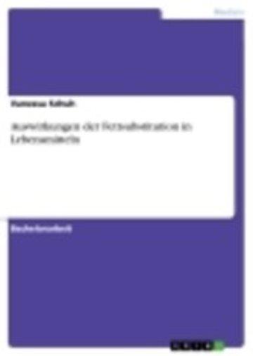 eBook Auswirkungen der Fettsubstitution in Lebensmitteln Cover