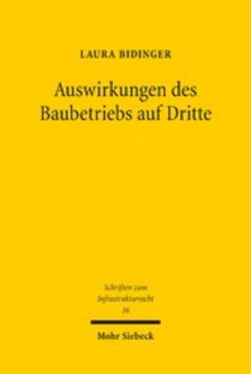 eBook Auswirkungen des Baubetriebs auf Dritte Cover