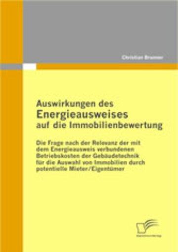 eBook Auswirkungen des Energieausweises auf die Immobilienbewertung Cover