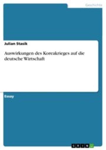 eBook Auswirkungen des Koreakrieges auf die deutsche Wirtschaft Cover