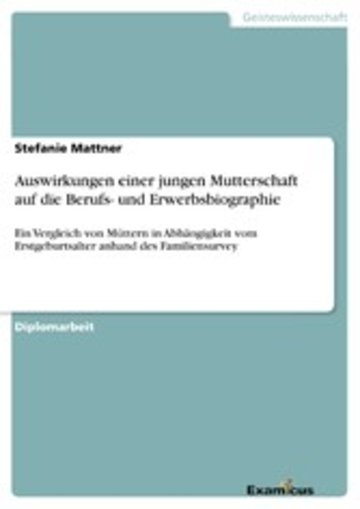 eBook Auswirkungen einer jungen Mutterschaft auf die Berufs- und Erwerbsbiographie Cover