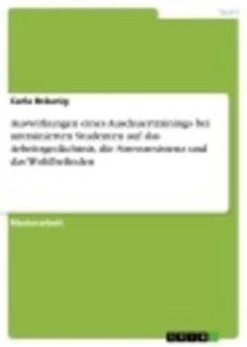 eBook Auswirkungen eines Ausdauertrainings bei untrainierten Studenten auf das Arbeitsgedächtnis, die Stressresistenz und das Wohlbefinden Cover