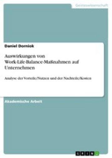 eBook Auswirkungen von Work-Life-Balance-Maßnahmen auf Unternehmen Cover