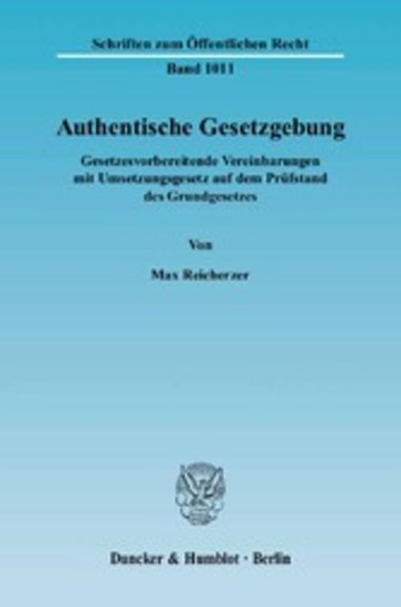 eBook Authentische Gesetzgebung. Cover