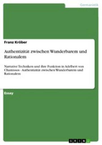 eBook Authentizität zwischen Wunderbarem und Rationalem Cover