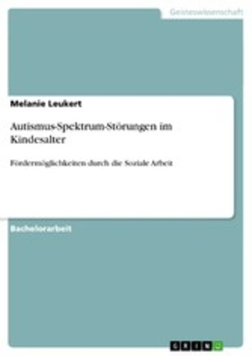 eBook Autismus-Spektrum-Störungen im Kindesalter Cover
