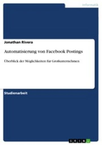 eBook Automatisierung von Facebook Postings Cover