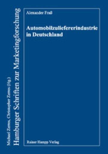 eBook Automobilzuliefererindustrie in Deutschland Cover