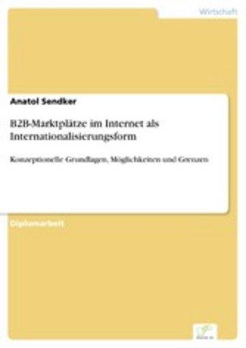 eBook B2B-Marktplätze im Internet als Internationalisierungsform Cover