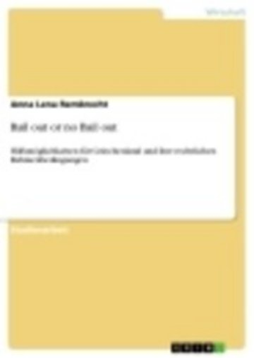 eBook Bail out or no Bail out Cover