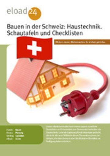 eBook Bauen in der Schweiz: Haustechnik. Schautafeln und Checklisten Cover