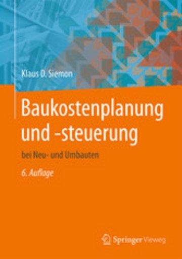 eBook Baukostenplanung und -steuerung Cover