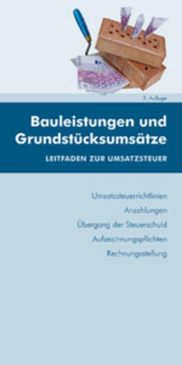 eBook Bauleistungen und Grundstücksumsätze (Ausgabe Österreich) Cover
