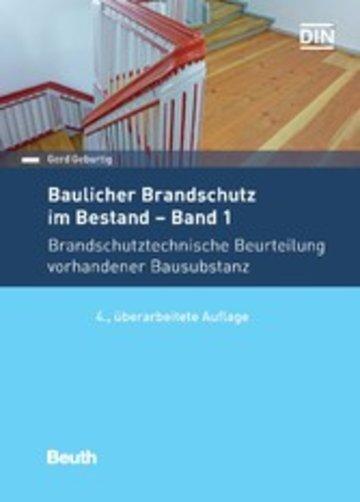 eBook Baulicher Brandschutz im Bestand: Band 1 Cover