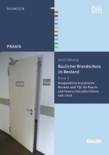 eBook Baulicher Brandschutz im Bestand: Band 4 Cover