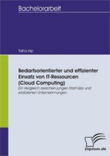 eBook Bedarfsorientierter und effizienter Einsatz von IT-Ressourcen (Cloud Computing): Ein Vergleich zwischen jungen Start-Ups und etablierten Unternehmungen Cover