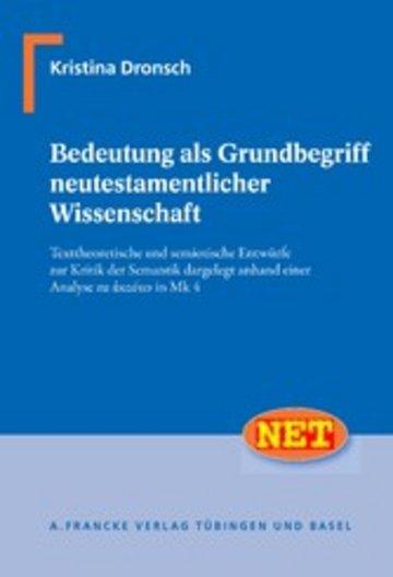 eBook Bedeutung als Grundbegriff neutestamentlicher Wissenschaft Cover