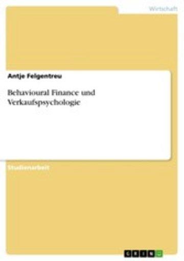 eBook Behavioural Finance und Verkaufspsychologie Cover