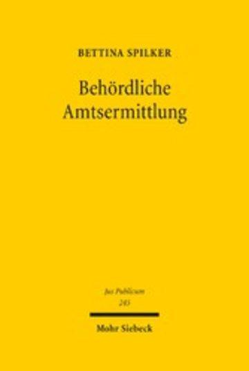 eBook Behördliche Amtsermittlung Cover