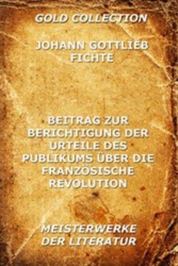 eBook Beitrag zur Berichtigung der Urteile des Publikums über die französische Revolution Cover