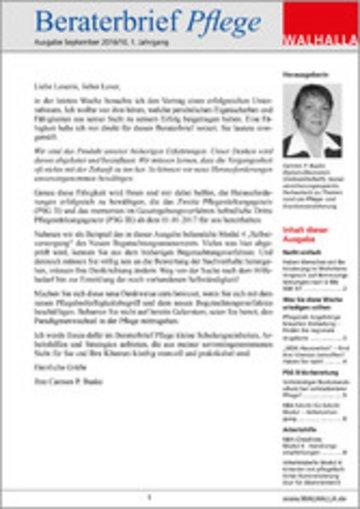eBook Beraterbrief Pflege Ausgabe September 2016/10 Cover