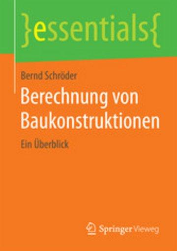 eBook Berechnung von Baukonstruktionen Cover