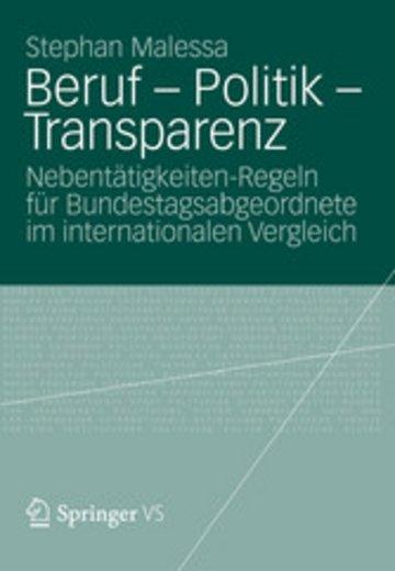 eBook Beruf - Politik - Transparenz Cover