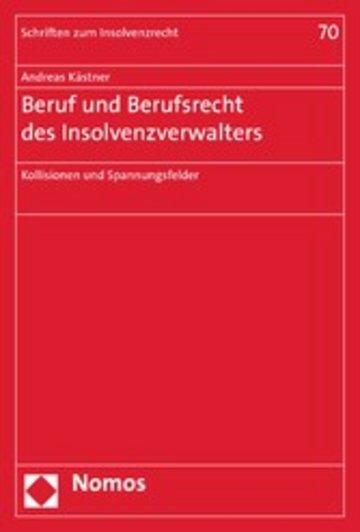 eBook Beruf und Berufsrecht des Insolvenzverwalters Cover