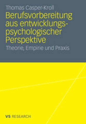 eBook Berufsvorbereitung aus entwicklungspsychologischer Perspektive Cover