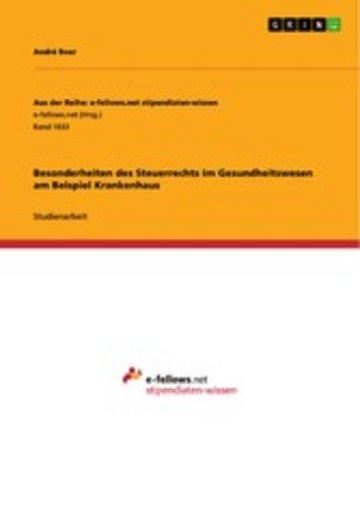 eBook Besonderheiten des Steuerrechts im Gesundheitswesen am Beispiel Krankenhaus Cover
