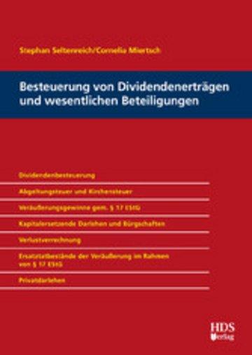 eBook Besteuerung von Dividendenerträgen und wesentlichen Beteiligungen Cover