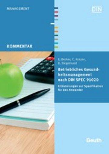 eBook Betriebliches Gesundheitsmanagement nach DIN SPEC 91020 Cover