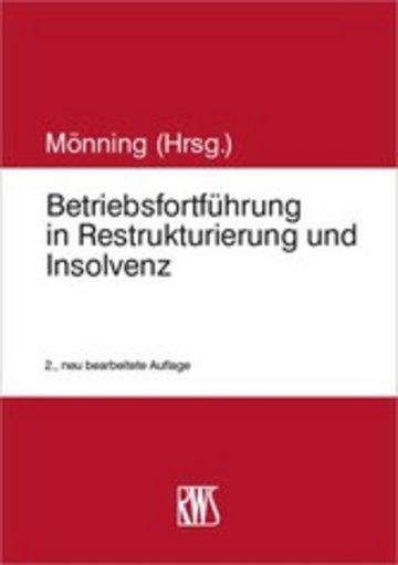 eBook Betriebsfortführung in Restrukturierung und Insolvenz Cover