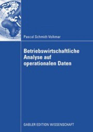 eBook Betriebswirtschaftliche Analyse auf operationalen Daten Cover