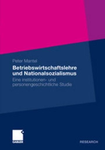 eBook Betriebswirtschaftslehre und Nationalsozialismus Cover