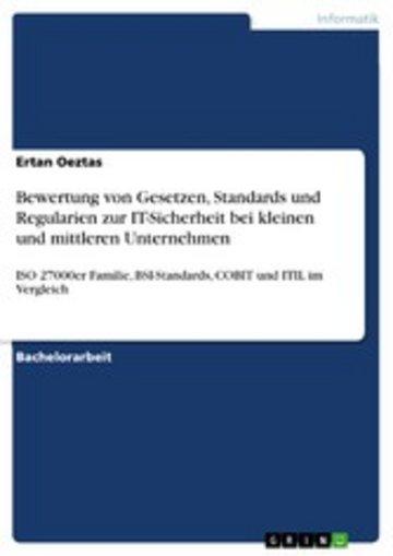 eBook Bewertung von Gesetzen, Standards und Regularien zur IT-Sicherheit bei kleinen und mittleren Unternehmen Cover