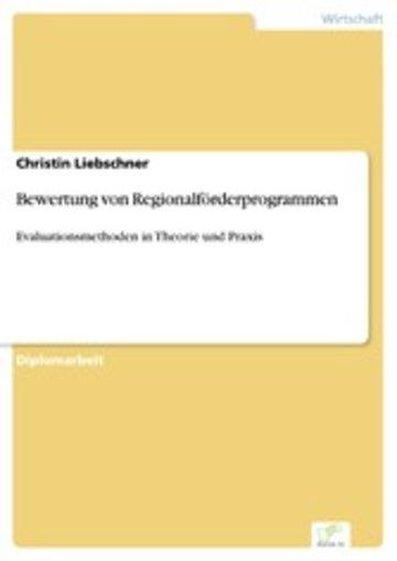 eBook Bewertung von Regionalförderprogrammen Cover