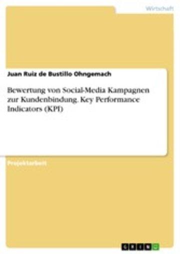 eBook Bewertung von Social-Media Kampagnen zur Kundenbindung. Key Performance Indicators (KPI) Cover