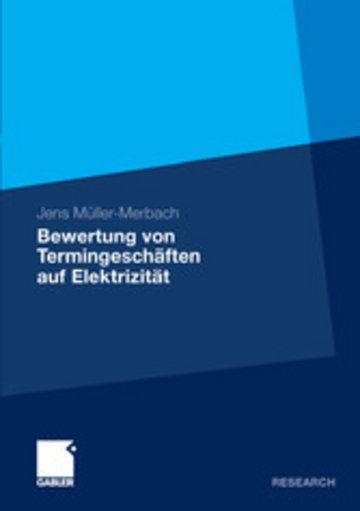 eBook Bewertung von Termingeschäften auf Elektrizität Cover