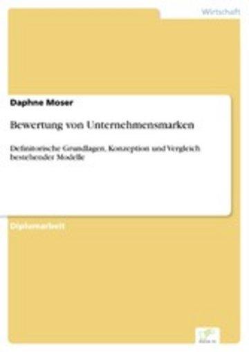 eBook Bewertung von Unternehmensmarken Cover