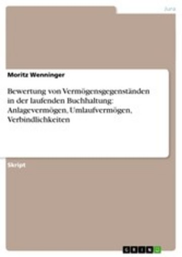 eBook Bewertung von Vermögensgegenständen in der laufenden Buchhaltung: Anlagevermögen, Umlaufvermögen, Verbindlichkeiten Cover