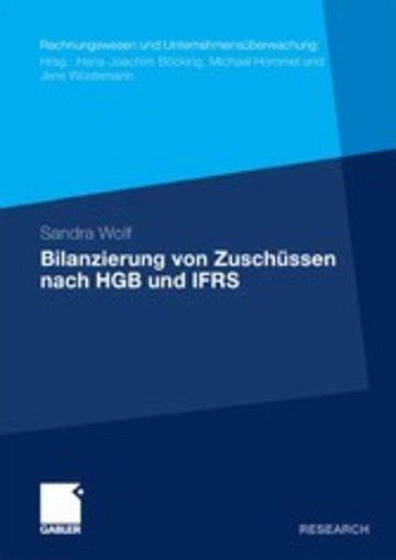 eBook Bilanzierung von Zuschüssen nach HGB und IFRS Cover