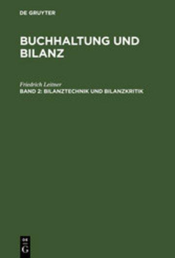 eBook Bilanztechnik und Bilanzkritik Cover