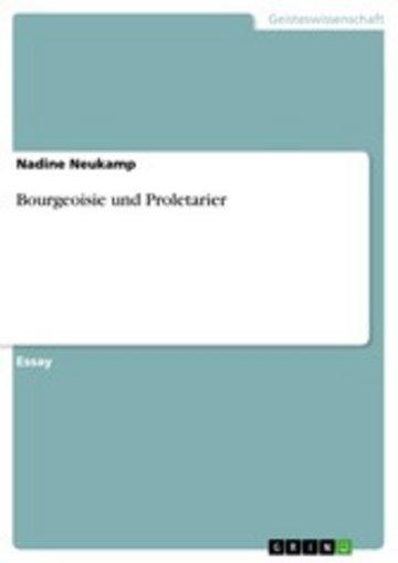 eBook Bourgeoisie und Proletarier Cover