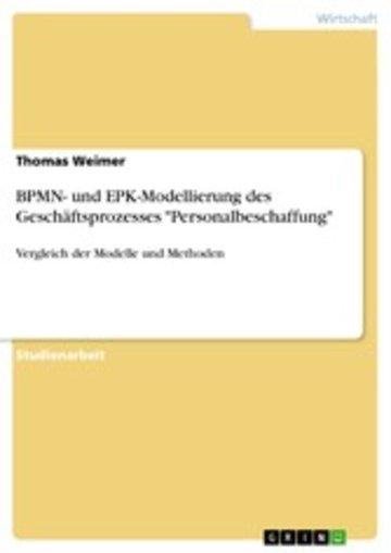 eBook BPMN- und EPK-Modellierung des Geschäftsprozesses 'Personalbeschaffung' Cover