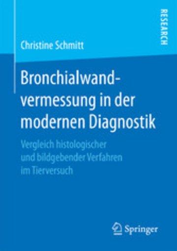 eBook Bronchialwandvermessung in der modernen Diagnostik Cover