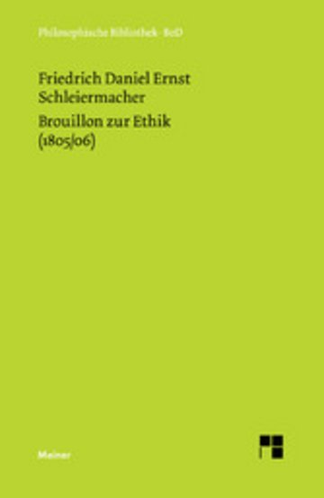 eBook Brouillon zur Ethik (1805/06) Cover