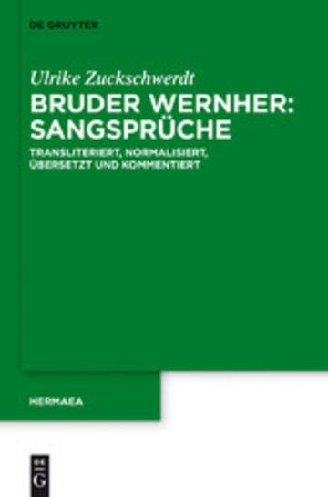 eBook Bruder Wernher: Sangsprüche Cover
