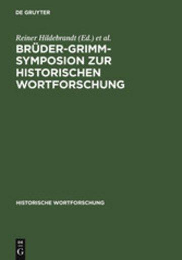 eBook Brüder-Grimm-Symposion zur Historischen Wortforschung Cover
